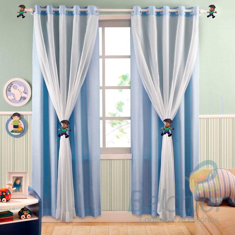 quarto de bebê com cortina
